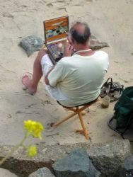 eric ward painting at mousehole